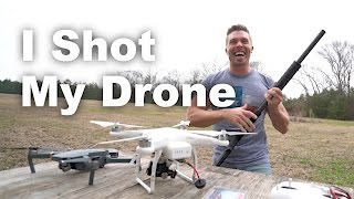 I Shot my Drone for SCIENCE - Skynet Drone Defense Test