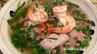 Hủ tiếu - Vietnamese rice noodle with pork and shrimp