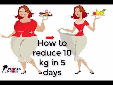 how to lose weight in less than 5 days