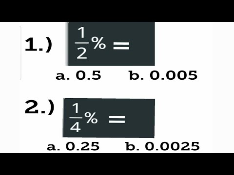 PERCENTAGE: How to convert Fraction Percent to Decimal