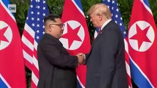 TRUMP - KİM JONG  US-North Korea summit in Singapore