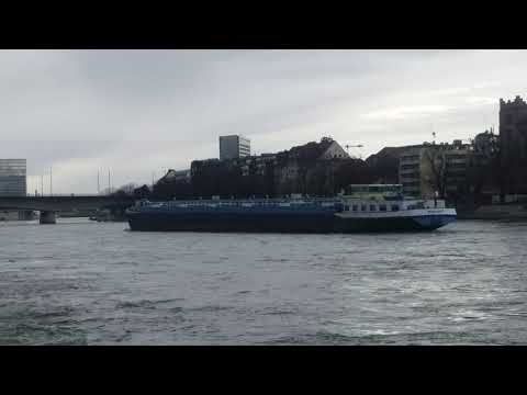Rheinschiffahrt Basel Shipping Schweiz switzerland 23 Jan 2021