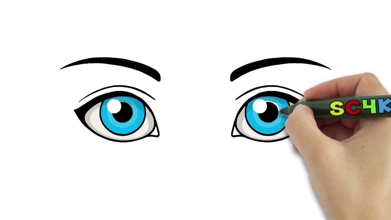 How To Draw Eyes Easy For Kids To Learn Colors Step By Step