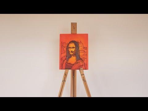 Mona Lisa La Joconde drawing - 3D PEN with LIX PEN UV