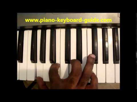 How To Play Gmaj7 Chord G Major Seven On Piano Keyboard Youtube