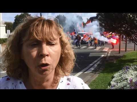 La Rochelle : manifestation contre la réforme du Code du travail le 21 septembre 2017