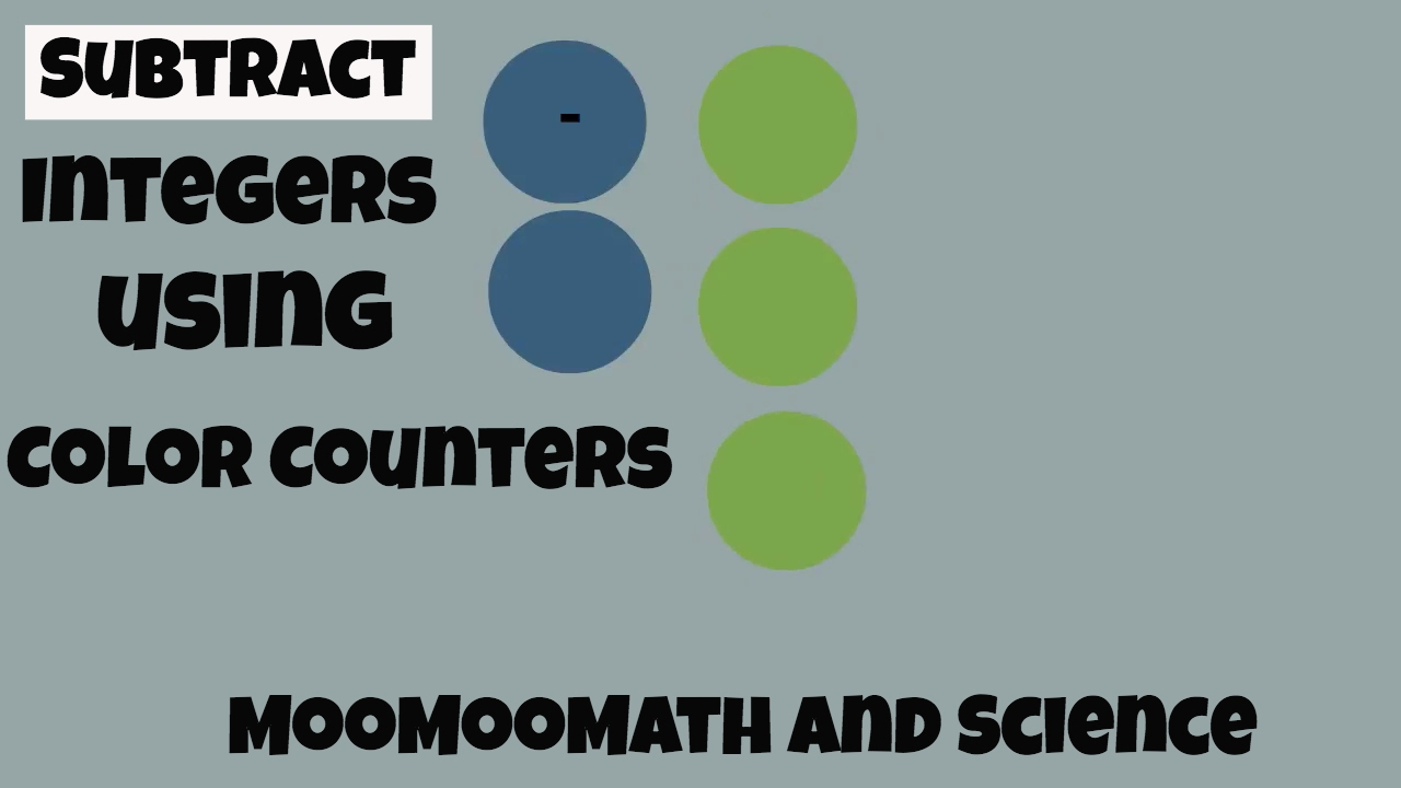 Subtracting integers using Color Counters - YouTube