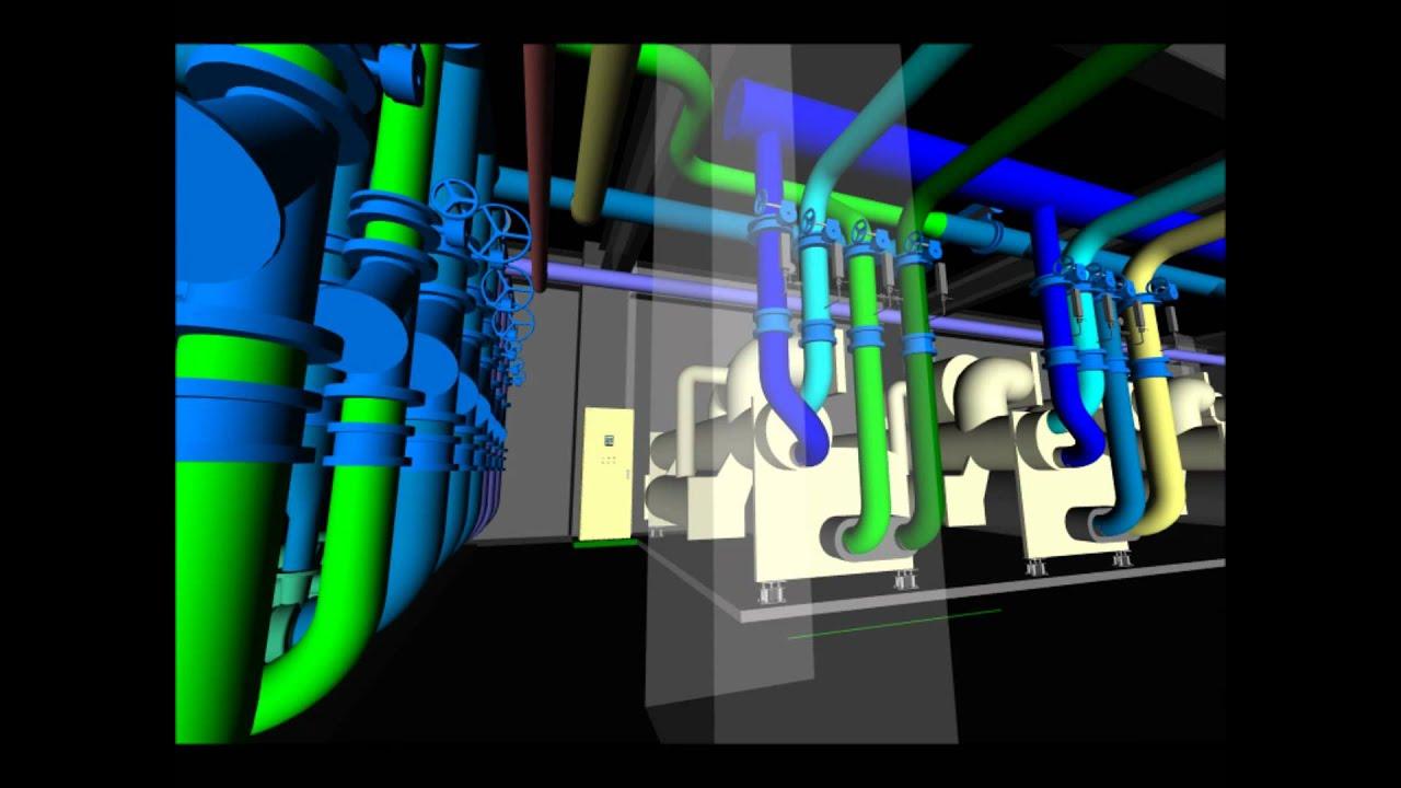 Chiller Plant 3d Bim Ismc Design Youtube
