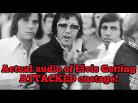 Download Shocking audio of Elvis getting ATTACKED on stage!! Follow up video