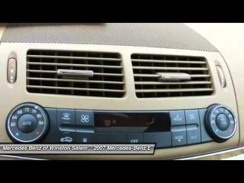 2007 mercedes benz e class winston salem nc p6908a youtube. Black Bedroom Furniture Sets. Home Design Ideas