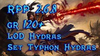 Diablo 3 RPP 2.6.8 Revisando MAGO las 2 builds de Hydras GR 120+