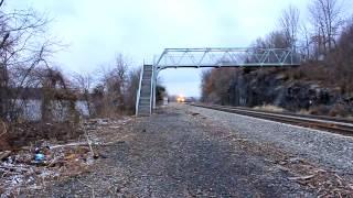 Metro-North Train Passing Breakneck Ridge