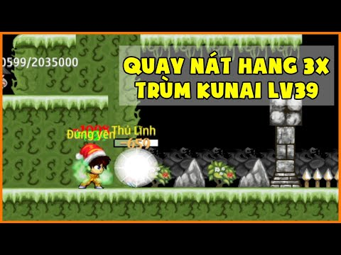 tai game ninja school online hack cho may tinh - Đột Nhập Trùm Kunai Lv39 Sv23 | Quay Nát Hang Động 3x Một Mình | Ninja School Online