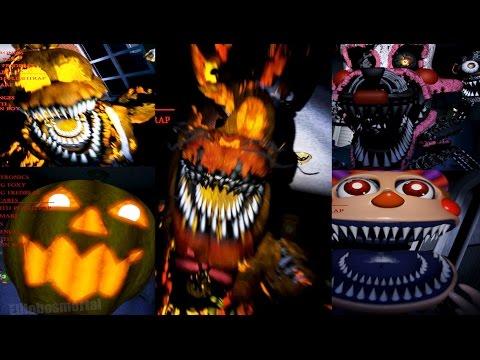 Todos los JUMPSCARES de FNAF 4 Halloween Edition - All JUMPSCARES ...
