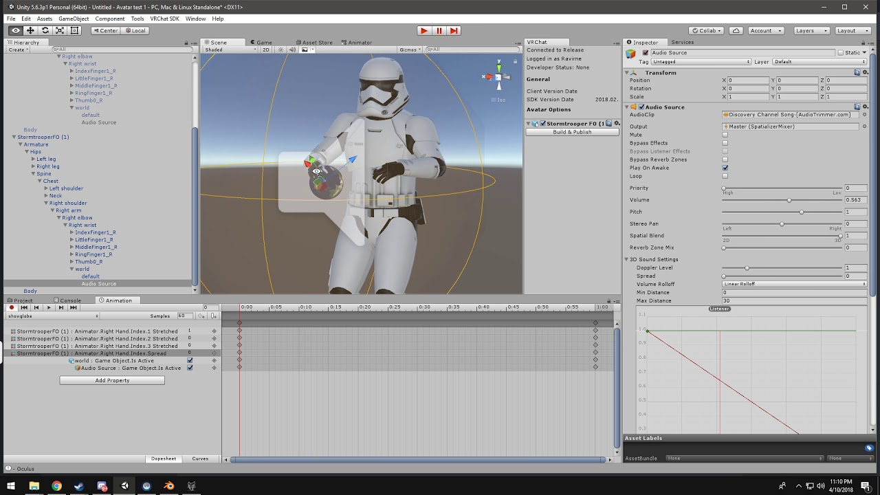 Creating prop animations for VRchat avatars with audio by The Rav Gaming