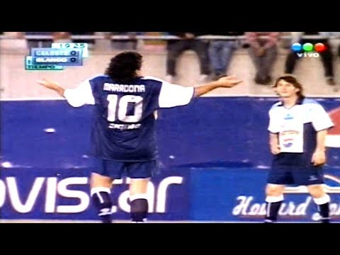"""The Day A 18 Year Old Messi Played With Maradona ● Messi In """"Argentinian All Star Game"""" ● 2005"""