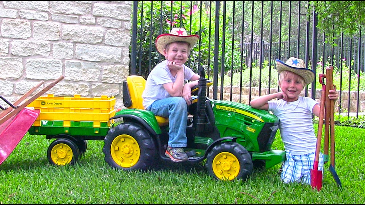 Ride On John Deere Tractor For Kids Unboxing Review And