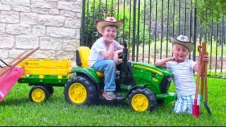 Ride On John Deere Tractor For Kids - Unboxing, Review And Riding