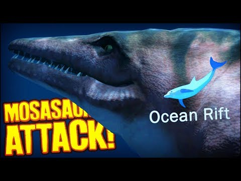 OceanRift | MOSASAURUS ATTACK! (Underwater Exploration Game)