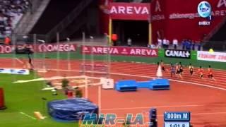David RUDISHA 1:41.54 - 800m Diamond League 2012 Paris - MIR-La.com