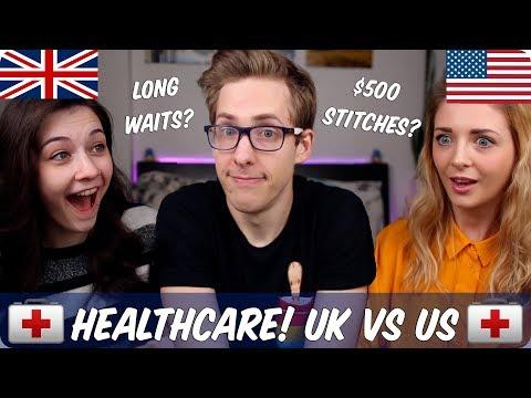 Healthcare | British VS American | Evan Edinger & Connie Glynn and OhItsJustKim