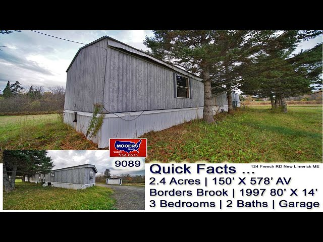 Maine Home For Sale | 2.4 Acres Of ME Land | Maine Real Estate MOOERS REALTY 9089