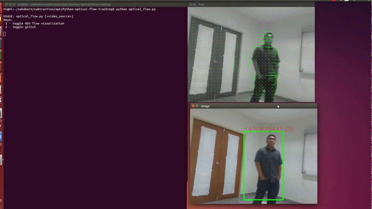 Object detection using Optical Flow on Opencv