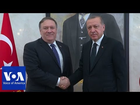 US Secretary of State Mike Pompeo Meets with Turkish President Erdogan Over Missing Journalist