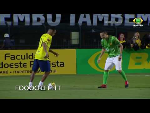 Neymar skills at Neymar vs Robihno charity match!