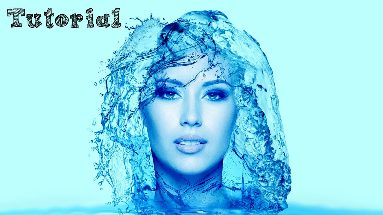 Photoshop Tutorial - Portrait Water Effect - English - YouTube