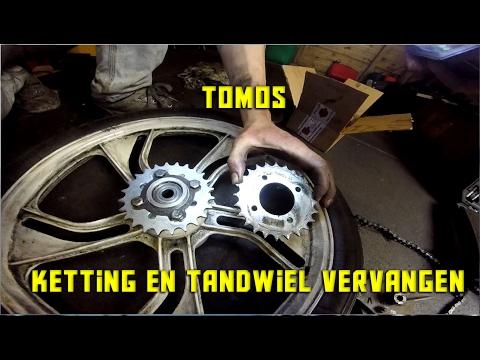 Tomos ketting en tandwiel vervangen | Sprocket change tomos