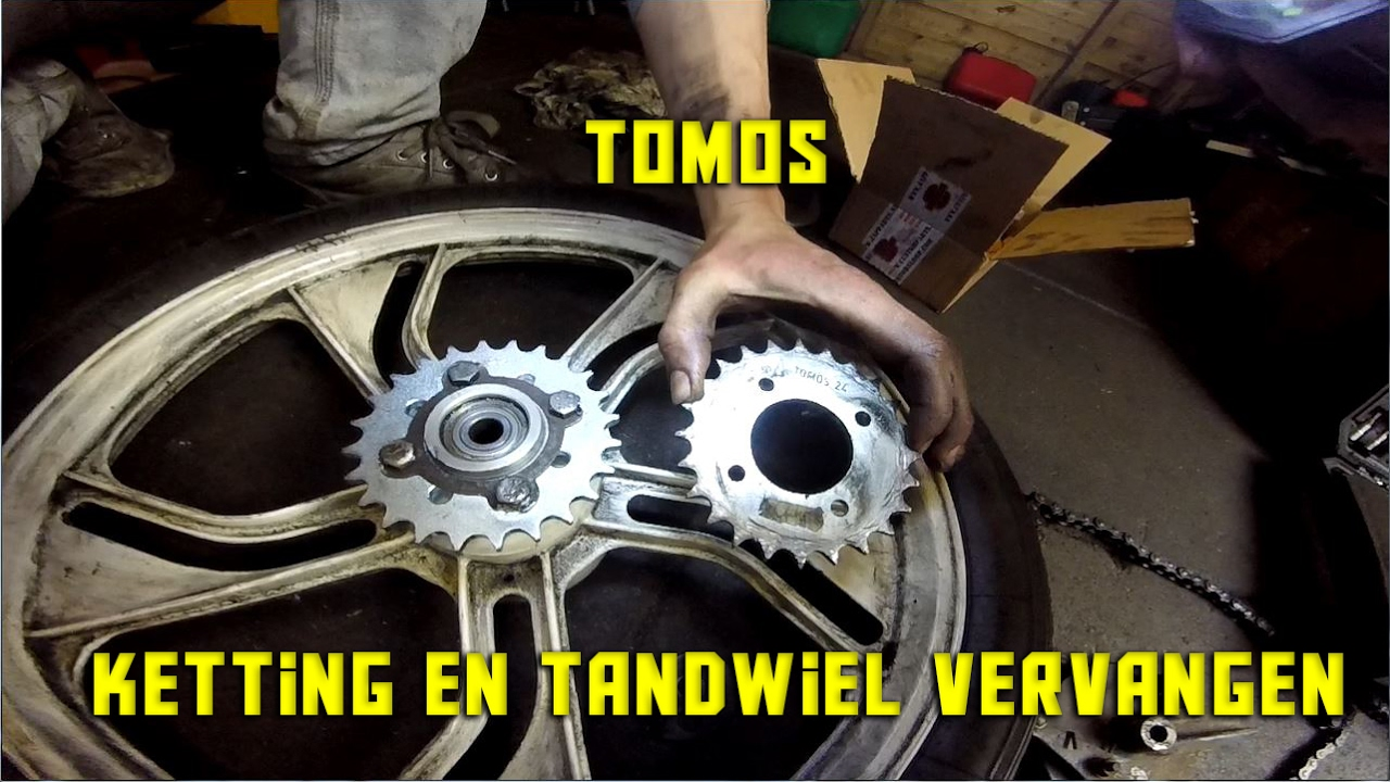 Tomos Ketting En Tandwiel Vervangen Sprocket Change Tomos