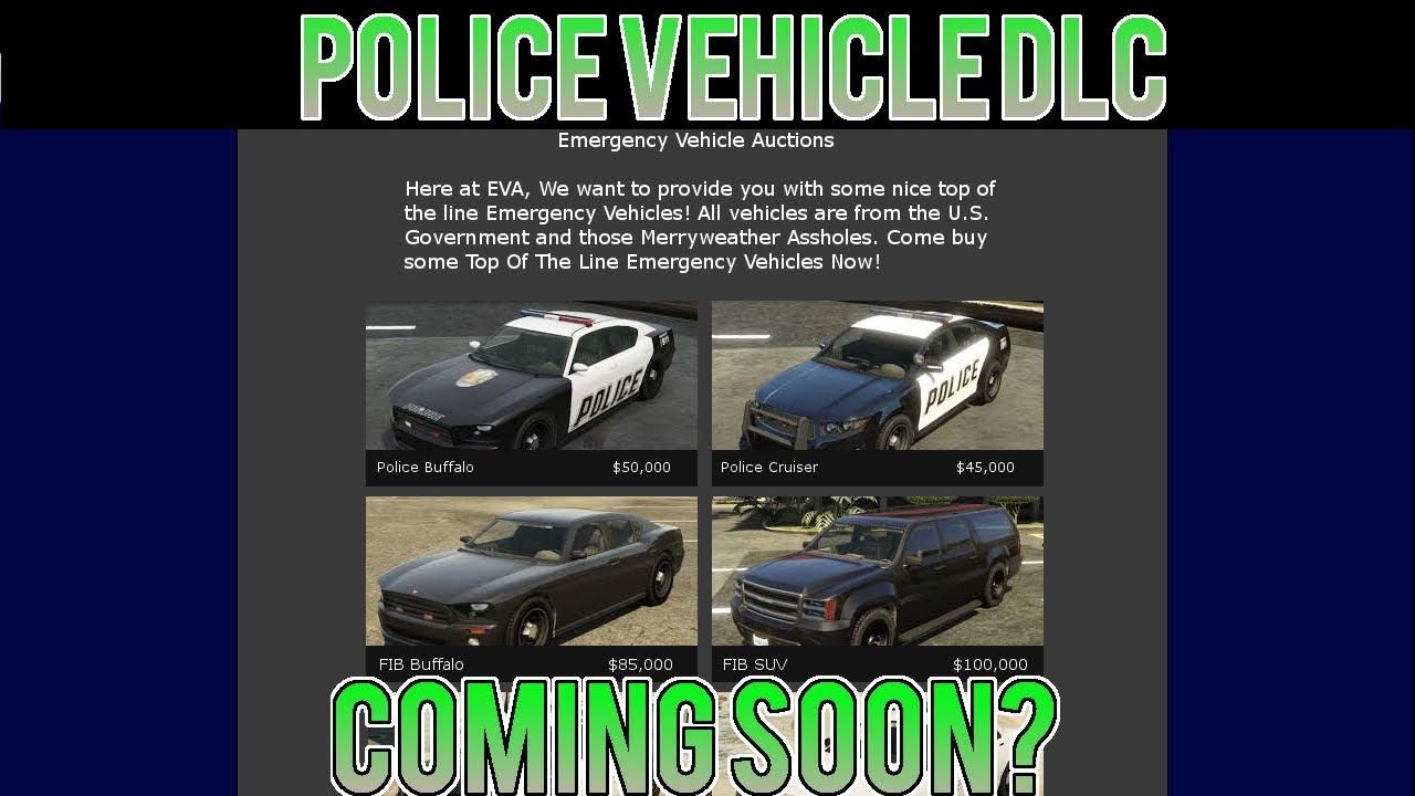 GTA 5 - Buy Police Vehicles Coming Soon? Leaked Images - GTA 5 DLC ...
