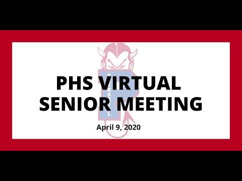 Peekskill High School Virtual Senior Meeting (April 9, 2020)