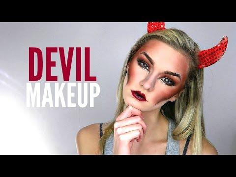 Halloween Makeup Devil Girl.Devil Kaitlinemax Last Minute Easy Halloween Makeup Tutorials