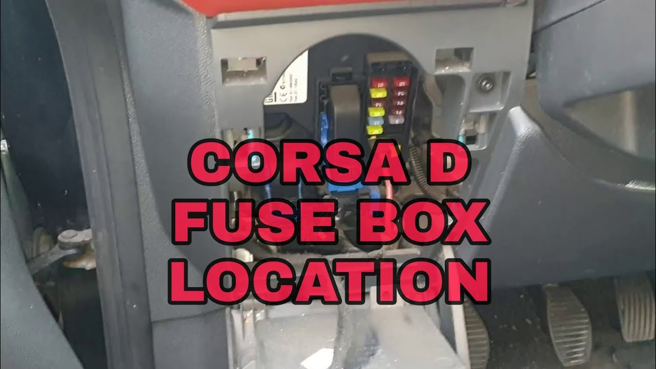 opel vauxhall corsa d fuse box location - youtube  youtube