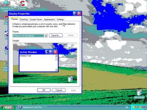 Windows xp with 16 colors youtube for 16 window