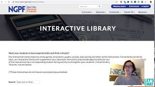 How do I use the Interactive Library? (PRO Tip from NGPF)