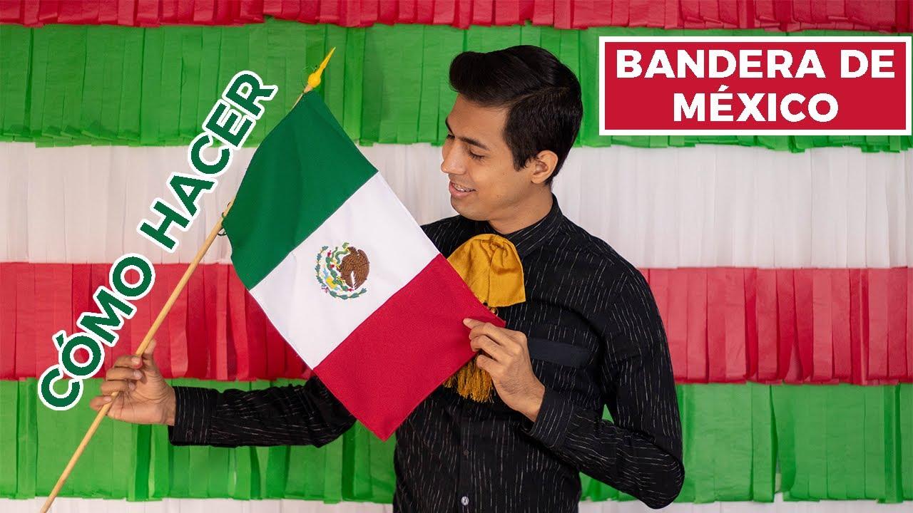 Cómo Hacer La Bandera De México Bandera Bordada Fiestas Patrias Youtube