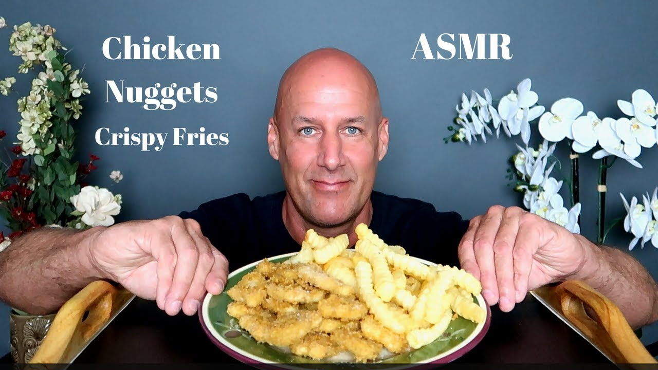 Asmr Homemade Chicken Nuggets And Crispy French Fries Eating Sounds No Talking Blue Yeti