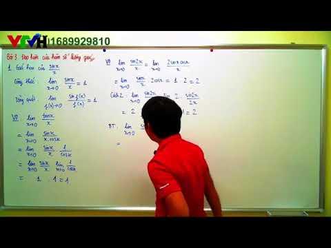 Toán 11 Bài 3  Sách bài tập   Đạo hàm của hàm số lượng giác