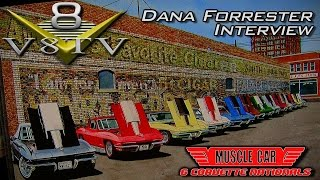 Dana Forrester's Muscle Car and Corvette Paintings Interview at 2015 MCACN Show Video V8TV