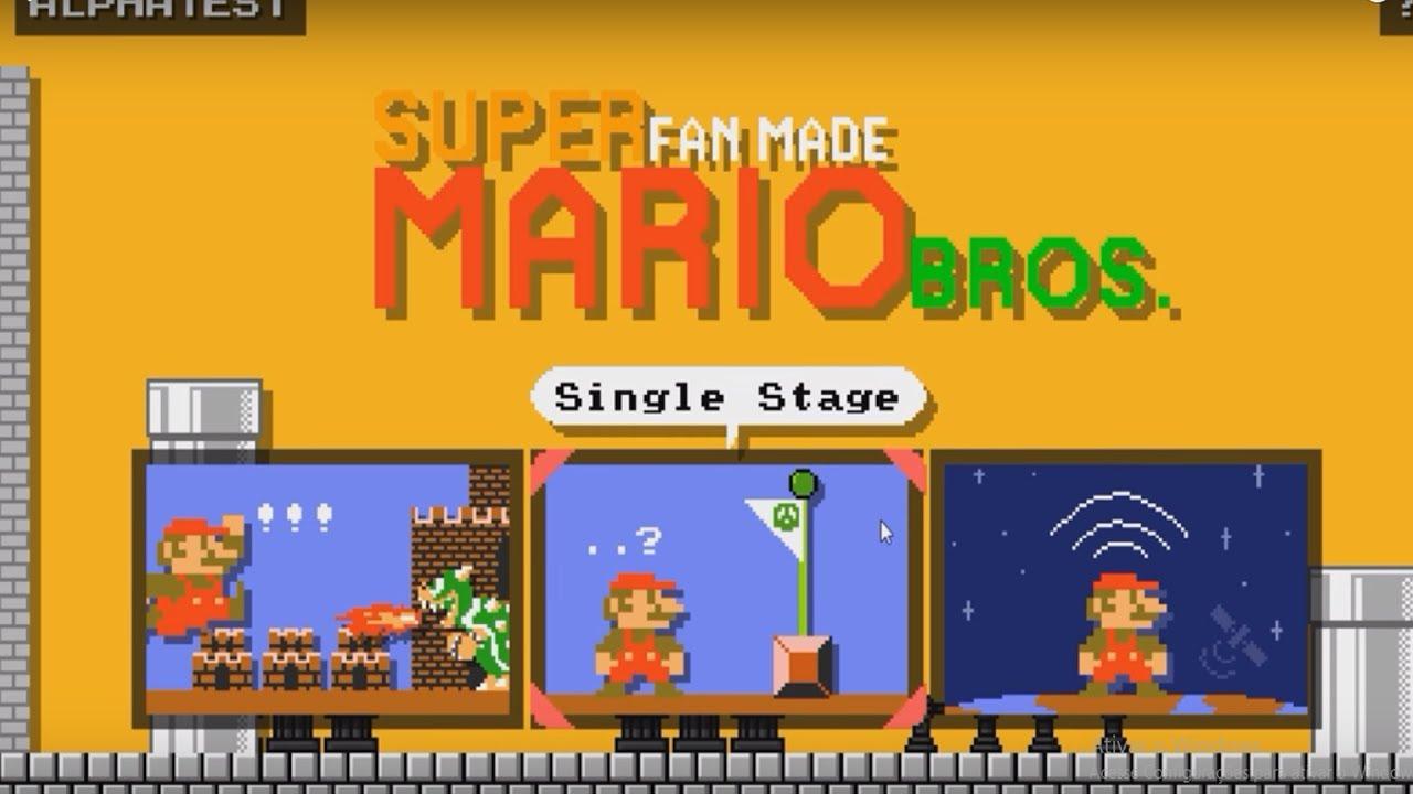 Super Fanmade Mario Bros - Esse é bem Maker