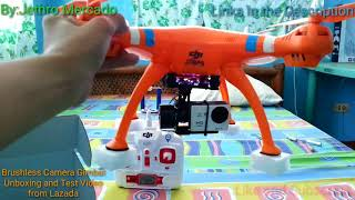 Brushless Camera Gimbal Unboxing and Test from Lazada