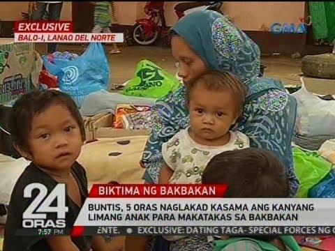 24 Oras Exclusive: Buntis, 5 oras naglakad kasama ang kanyang limang anak para makatakas sa bakbakan
