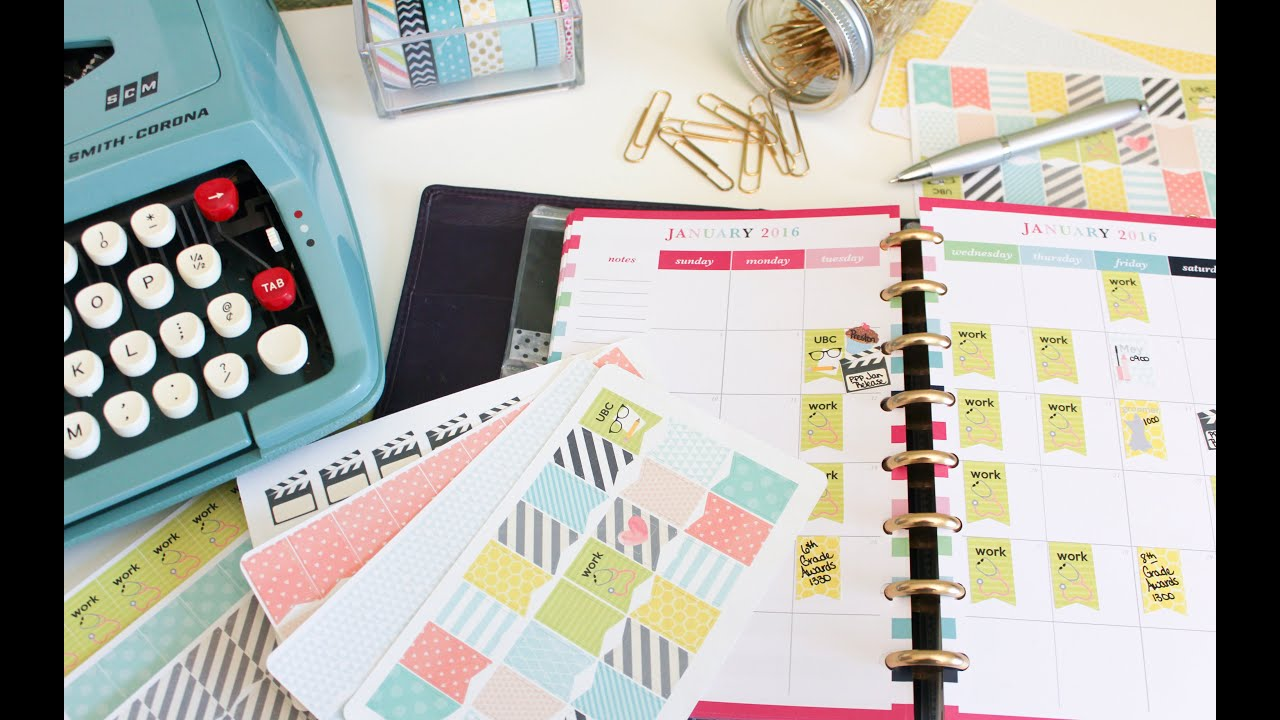 Create Your Own Planner Stickers Silhouette Cameo Tutorial