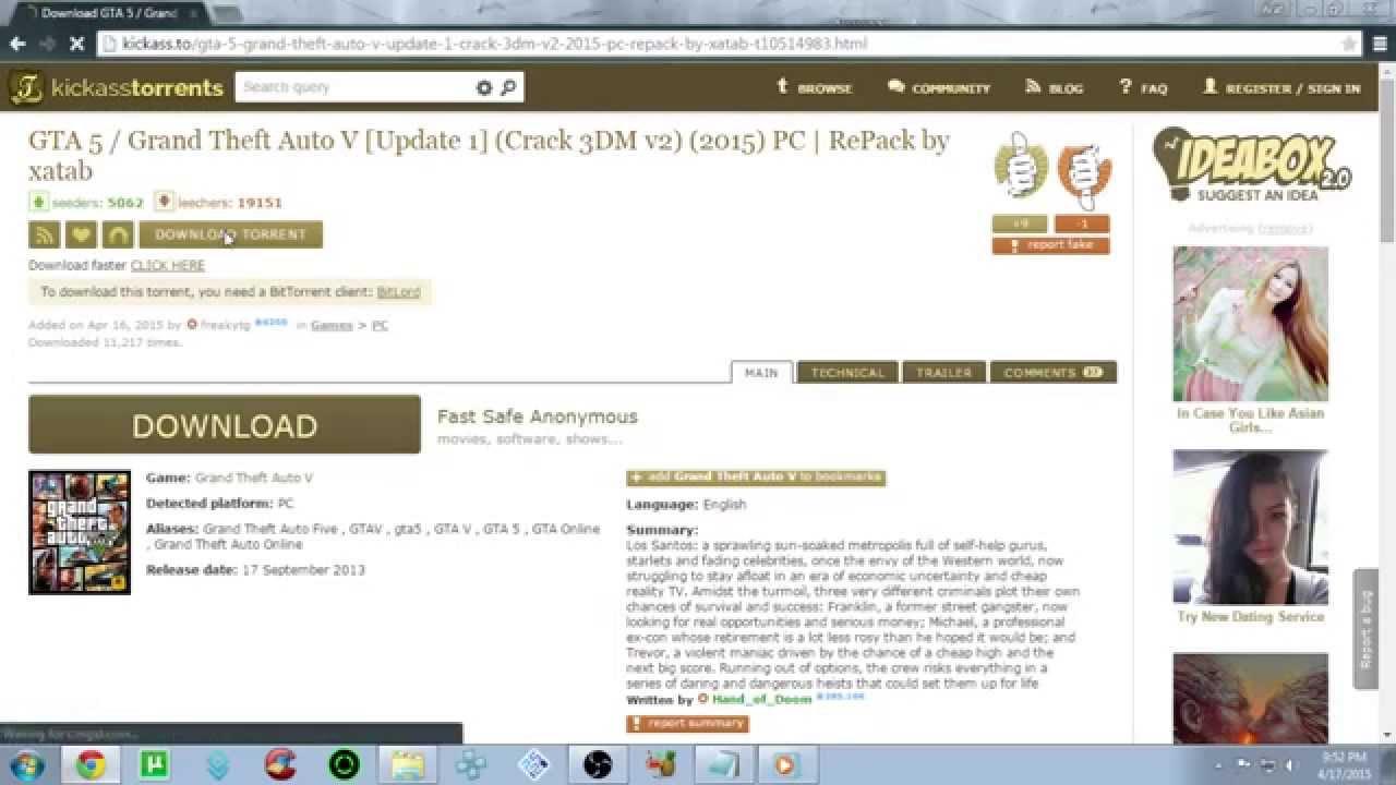 Image result for GTA 5 Torrent: GTA V Torrent Reloaded PC Game Free Download