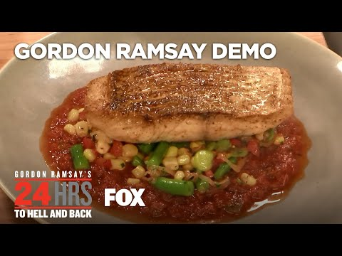 Cooking Demo: Red Snapper Dish | Season 2 Ep. 6 | GORDON RAMSAY'S 24 HOURS TO HELL & BACK