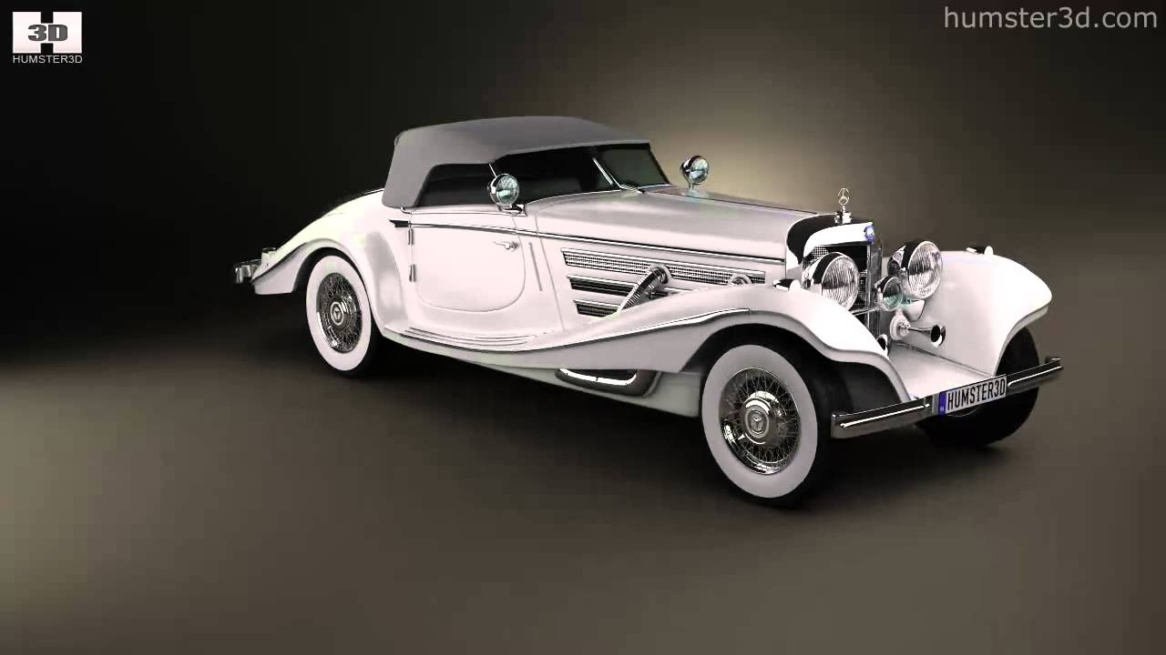 Mercedes Benz 500k Special Roadster 1936 By 3d Model Store Humster3d Com