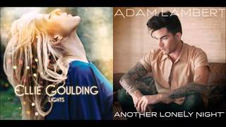 another lonely light   ellie goulding vs adam lambert mashup